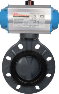 Pneumatic Butterfly Valve Material PVC pictures & photos