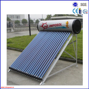 Compact Pressurized Vacuum Tube Solar Water Heater 200L pictures & photos