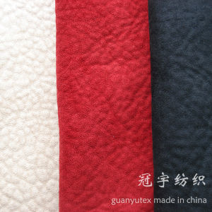 Microfiber Polyester Suede Fabric Embossed for Sofa pictures & photos
