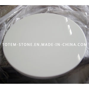 china polished artificial white quartz stone round dining table top china table stone table. Black Bedroom Furniture Sets. Home Design Ideas