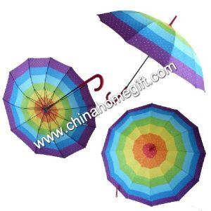 12k Colourful Straight Umbrellas