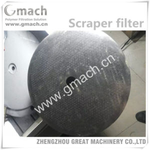 Plastic Recycling Granulating Extrusion Line Used Melt Filter Without Mesh pictures & photos
