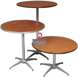 Round Plywood Banquet Tables for Party pictures & photos