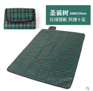 OEM Christmas Green Microfiber PEVA Picnic Blanket pictures & photos