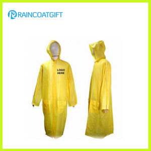 Men′s Long Yellow PVC Raincoat pictures & photos