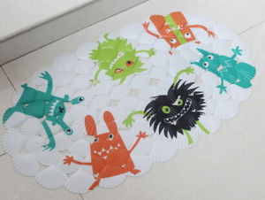 OEM PVC Printed Shell Shape Monster Bath Rug pictures & photos