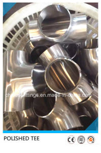 Ss304 Food Grade Sanitary Pipe Fittings Polished Equal Tee pictures & photos