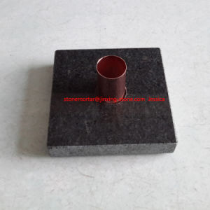 Square Grainte Stone Candle Holder with Golden Pipes pictures & photos