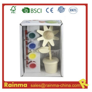 Flower Wooden Craft Water Color Paint for Kids Gift pictures & photos
