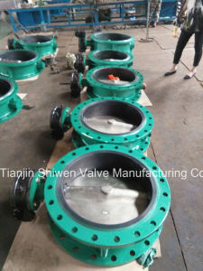 Double Flanged Concentric Butterfly Valve with Gearbox Operate pictures & photos
