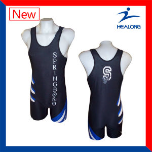 Any Pattern Custom Wrestling Mens Singlets pictures & photos