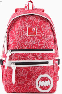 2015 Fashion Nylon Style Red Backpack for Students pictures & photos