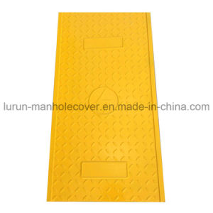 Security Square FRP GRP Manhole Cable Cover with Locking pictures & photos