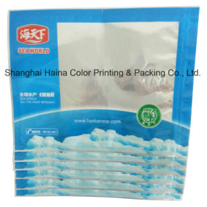 Plastic Compound Printing Sea Food Packaging Zipper Bag