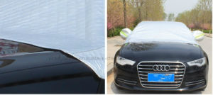 High End Folding Silver PEVA Waterproof Sunshade Half Car Cover pictures & photos