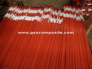 E-Glassfiber High Strength Red Pultrusion Fiberglass Pole for Signs
