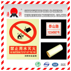 Pet/PVC Photo Luminescent Reflective Film for Fire Warning Signs (FG301) pictures & photos