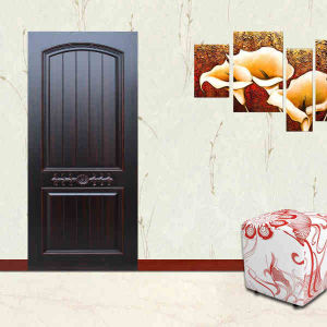 Customized Design and High Quality Wooden Steel Security Door pictures & photos