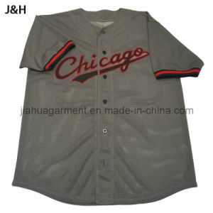 Mens Visible Mesh Baseball Jersey with Rib Sleeve (0114J)