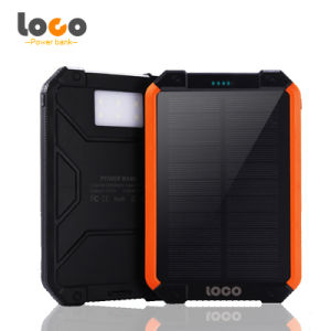 12000mAh Silicone Waterproof Solar Power Bank with Strong LED Light pictures & photos