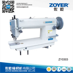 Zy0303 Zoyer Top and Bottom Feed Lockstitch Industrial Sewing Machine pictures & photos