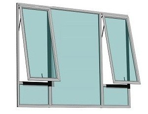 Custom Aluminium Double Glass Windows with Flyscreen pictures & photos