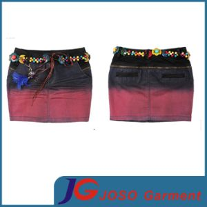 Classical Ethnic Style Mini Jeans Skirt Women Dress (JC2075) pictures & photos