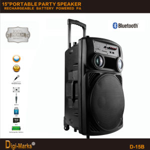 2017 Hot Sale Professional Portable Built-in Amplifier Trolley Speaker pictures & photos