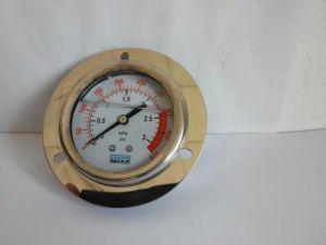 63mm Liquid Filled Pressure Gauge with Flange
