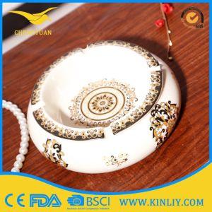 Excellent Quality Ceramic Multicolor Souvenir Round Cigarette Ashtray pictures & photos