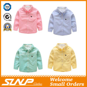 Boy Long Sleeve School Uniform Shirt with 100% Cotton pictures & photos