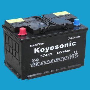 Black Color Dry 12V74ah Acid Battery for Car Starting ...