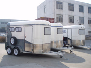 2 Horse Trailer 2 Horse Slant Load Chinese Imported pictures & photos
