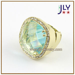 Wholesale Alloy Gold Plating Glass Stones Stretch Fashion Jewelry Ring pictures & photos
