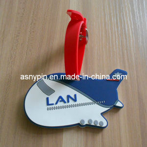 Soft PVC Luggage Tag Aircraft Shaped Bag Tag pictures & photos