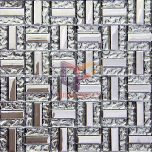 Silver 15*48mm Titanium Crystal Art Glass Mosaic Tile (TC346) pictures & photos