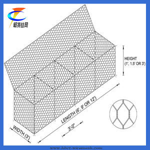 Hot Dipped Galvanized Gabion Cage Net pictures & photos