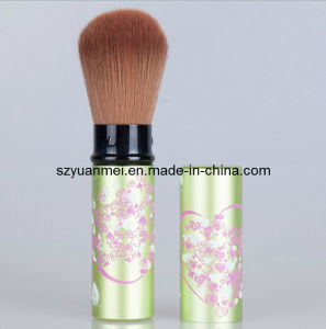 Makeup Retractable Powder Brush with Aluminum Tube (YMF375)