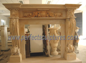 Stone Marble Fireplace Surround for Home Decoration (QY-LS207) pictures & photos