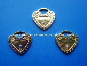Heart Lock Shape Diamond Metal Dog Tag