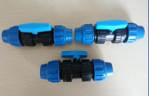 DIN Standard Black and Blue 20mm-63mm PP Fitting and Valve Irrigation pictures & photos