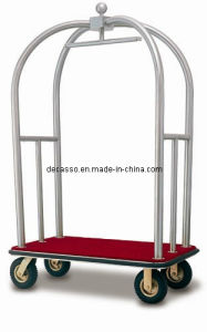 Hotel/Airport Sanding Stainless Steel Luggage Cart (DF30) pictures & photos