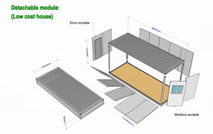 Movable Container House 20ft pictures & photos