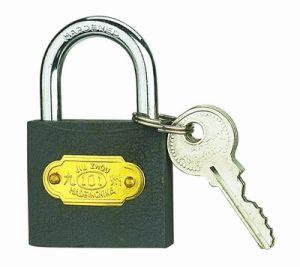 Grey Iron Padlock W/Brass Plate 3 Iron Key (365) pictures & photos
