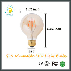 G25/G80/G95/G125 Clear Amber Vintage Light Dimmable LED Filament Bulb pictures & photos