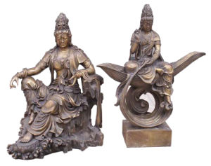 Bronze Buddha Kwanyin Sculpture (BZ1, BZ7) pictures & photos