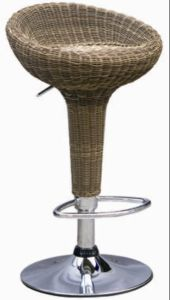 Rattan Furniture Bar Stools in Mixed Brown Wicker