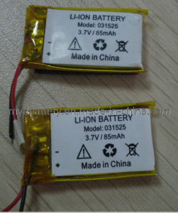 Bluetooth Small Li-Polymer Battery 031525 85mAh 3.7V, for Portable Devices