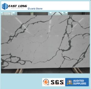 Artificial Stone White Calacatta Quartz Stone Slab for Countertop pictures & photos