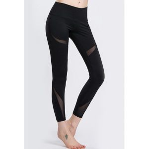 Hotest Customized Young Ladies Mesh Yoga Pants pictures & photos